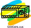 Microwave Oven Vector Clipart graphic
