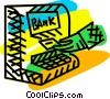 Vector Clip Art image  of a bank machine
