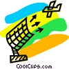 Air Traffic Control Vector Clip Art graphic