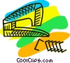 Vector Clip Art picture  of a stapler with staples
