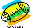 Vector Clipart illustration  of a Footballs