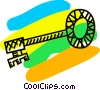 Vector Clipart image  of a skeleton key