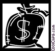 Vector Clipart picture  of a Money Bags