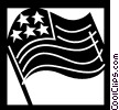 Vector Clip Art graphic  of a USA Flag