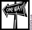 Vector Clip Art graphic  of a Street Signs Road Signs
