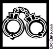 Handcuffs and Leg Irons Vector Clip Art picture
