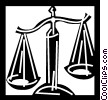 Scales of Justice Vector Clipart illustration