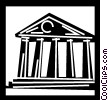 Vector Clip Art graphic  of a Banks