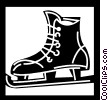 Vector Clip Art picture  of a Skating