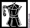 Vector Clipart illustration  of a Coffee Pots and Coffee Makers