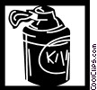 Vector Clipart graphic  of a Shaving Cream and Brushes