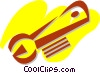 Vector Clipart graphic  of a Wrenches
