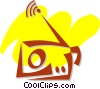Vector Clipart graphic  of a Radios