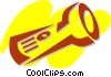 Vector Clip Art image  of a Flashlights