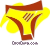 Vector Clip Art image  of a Underwear