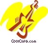 Vector Clipart graphic  of a Electric Guitars