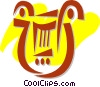 Vector Clip Art picture  of a Harps