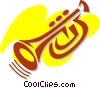 Trumpets Vector Clipart graphic