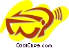 Vector Clip Art image  of a Ski Equipment