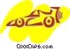 Auto Racing Vector Clipart graphic