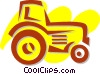 Vector Clip Art graphic  of a Tractors