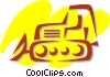 Bulldozers Vector Clipart illustration