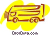 Vector Clipart graphic  of a Mid-Size Trucks