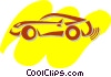 Vector Clip Art image  of a Sports Cars