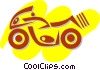 Vector Clip Art graphic  of a Street Bikes