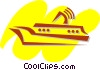 Vector Clip Art picture  of a Cruise Ships and Ocean Liners