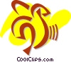Vector Clip Art image  of a Peeled banana