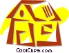 Rural Housing Vector Clipart picture