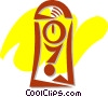 Vector Clip Art image  of a Grandfather Clocks