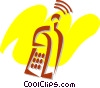 Cellular Wireless and Cordless Phones Vector Clipart illustration