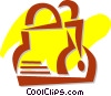 Vector Clip Art graphic  of a Handbags Purses