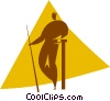 Vector Clip Art graphic  of a pool player