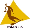 Vector Clipart picture  of a snowboarder