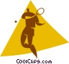 Vector Clipart image  of a tennis player