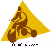 Vector Clipart illustration  of a child on a tricycle