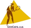 tennis player Vector Clipart illustration