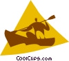 Vector Clip Art picture  of a person in a canoe