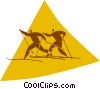 Vector Clipart graphic  of a cross-country skiing