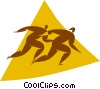 speed skating Vector Clip Art picture