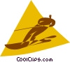 Vector Clipart graphic  of a water skiing