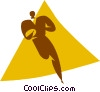 rugby player Vector Clip Art picture