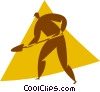 person with a shovel Vector Clip Art picture
