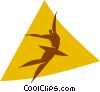 Vector Clip Art image  of a ballet dancer