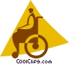 person in a wheelchair Vector Clipart illustration