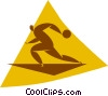 Vector Clip Art graphic  of a bowler