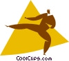 Vector Clipart graphic  of a martial arts